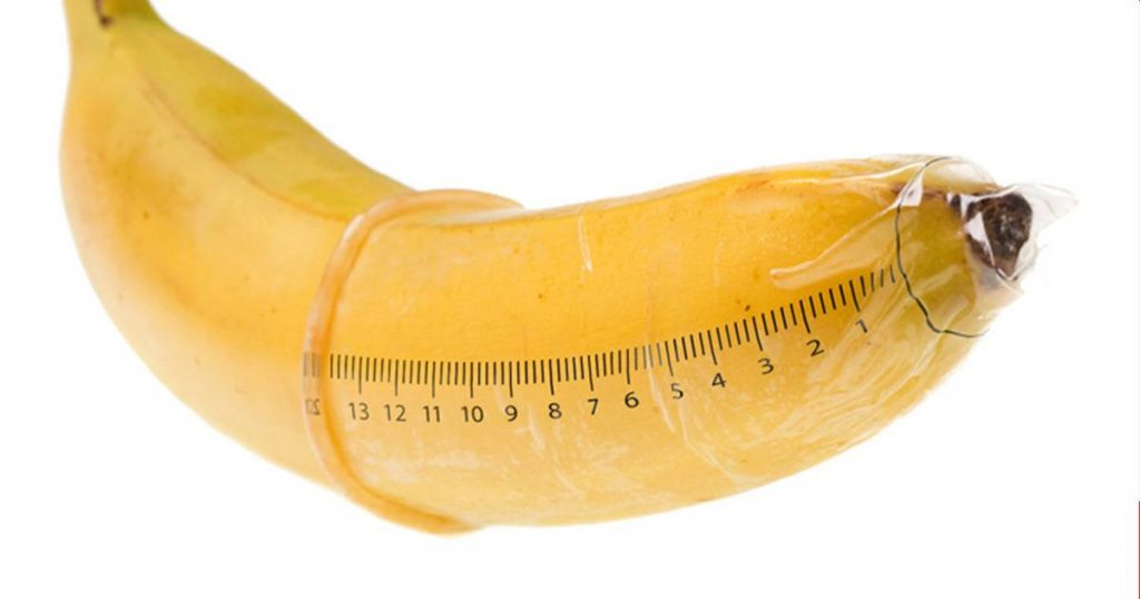 Condom with Measurements